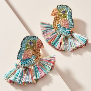 BaubleBar NWOT Parrot Drop Earrings Anthropologie